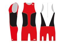 Kombinéza oSuit men's Red / Black / White