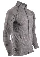Seamless  Zip Sweatshirt Grey Melagne